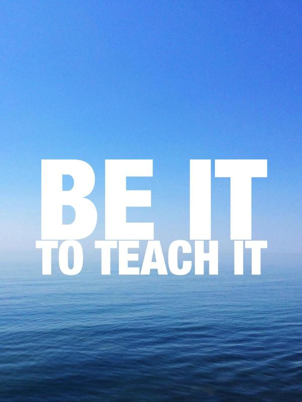 Be it to teach it